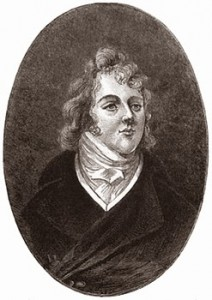 """Beau"" Brummel from a Miniature by John Cooke, Public Domain"