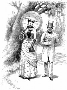 Walking Couple, Author's Collection