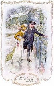 Dr. Grant (From Jane Austen's Mansfield Park) Went Out with an Umbrella, Public Domain