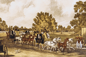 Four Horse Club: Four-in-Hand Club in Hyde Park, Public Domain