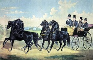 Four Horse Club: Four-in-Hand Stallion Team, Public Domain