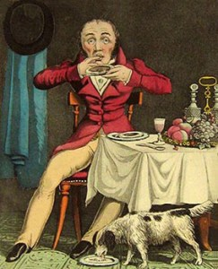 Table Etiquette: A Gentleman Not Being a Gentleman, Author's Collection