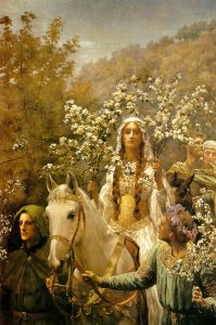 May Day: Queen Guinevere's Maying, Courtesy of Wikipedia