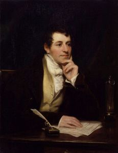Laughing Gas exhibitions: Sir Humphry Davy, Courtesy of Wikipedia