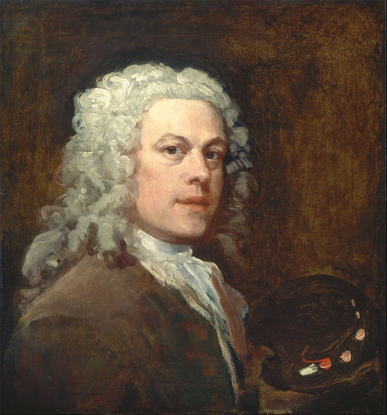 William Hogarth's Self Portrait of 1735, Courtesy of Wikipedia