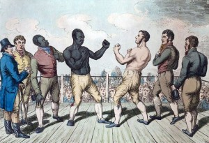 Molineaux and Cribb Fighting in 1811, Courtesy of Wikipedia