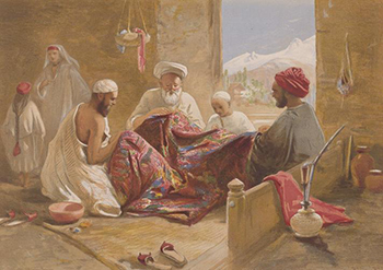 Kashmir Shawl Makers of 1867, Courtesy of Wikipedia