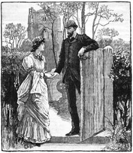 A Couple at a Garden Gate, Public Domain