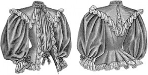 Ladies Tea Jacket, Front and Back, Author's Collection
