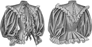 Ladies Tea Jackets, Front and Back, Author's Collection