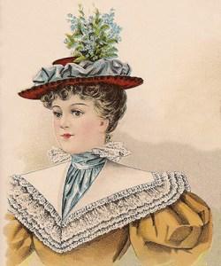 Hat Fashions for October 1896: Ladies Felt Hat