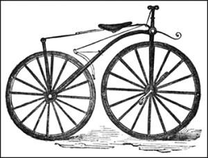 Victorian Bicyclist Etiquette: Bicycle of 1868-1869, Public Domain