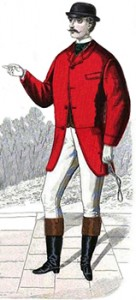 Typical Hunting Costume of the 1860s, Public Domain