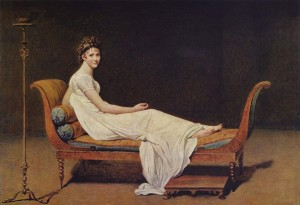 Portrait of Madame Récamier—Celebrated Beauty of the Regency and Victorian Era—by Jacques-Louis David, Courtesy of Wikipedia