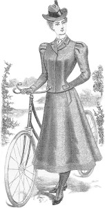 Victorian Bicycle Fashions: Typical Female Bicycle Costume for Fall 1898