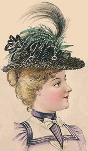 Hat Fashions for August 1898: Chiffon Hat, Author's Collection