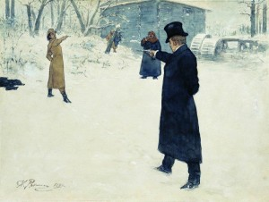 Portrayal of Fictional Pistol Duel Between Eugene Onegin and Vladimir Lensky, Written By Alexander Pushkin, Courtesy of Wikipedia
