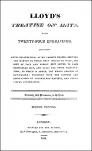 Title Page for Lloyd's Treatise on Hats, Public Domain