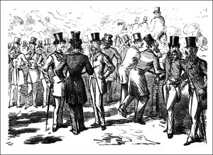 Dundreary Row-Hyde Park by Punch in 1862, Public Domain