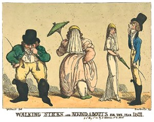 Walking Sticks or Canes: Walking-Sticks and Round-A-Bouts for the Year 1801 by Thomas Rowlandson
