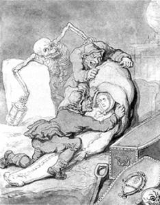Resurrection Men by Thomas Rowlandson, Courtesy of Wikipedia