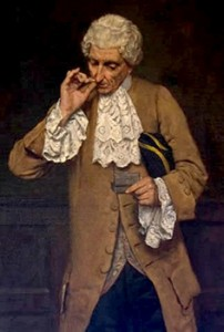 Man Taking Snuff Using the Thumb and Finger Method, Courtesy of Wikipedia