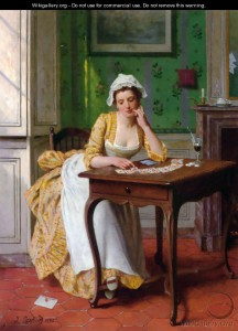 Lady's Maid Relaxing by Joseph Caraud, Courtesy of Wikipedia