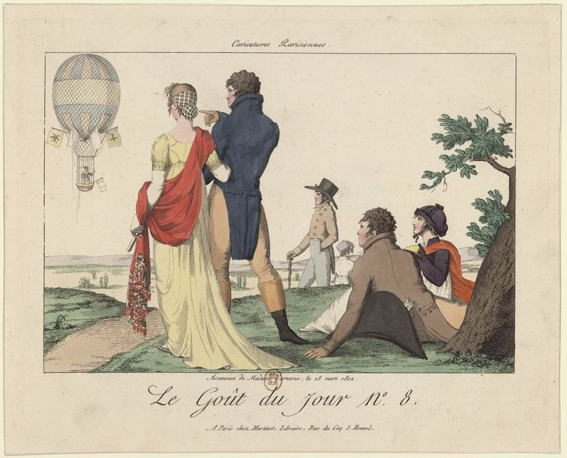 André-Jacques Garnerin - his wife's ascent