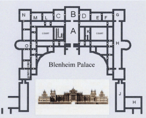 "State-rooms of Blenheim Palace Marked ""C"" and ""D"", Courtesy of Wikipedia"