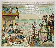 James Gillray Caricature of Charlotte Corday's Trial, Courtesy of Wikipedia