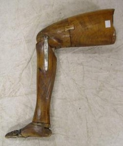 Example of a 19th Century wooden Leg, Courtesy of Wikipedia