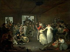 A Scene in a Unspecified Public-House in Portsmouth in the 1790s, Execution