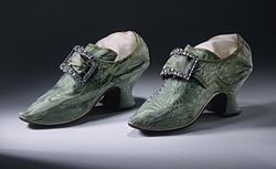 A Woman's Shoes with Buckles 1740-1750, Courtesy of Wikipedia