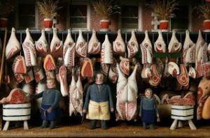 """Smithfield Market in Victorian Times, Pictured in """"The World of Toys"""""""