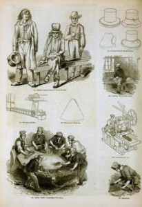 The Manufacture of Felt Hats, 1858, Public Domain