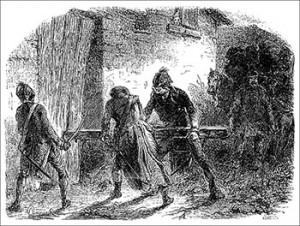 The Chauffeurs Breaking Down Fousset's Gate, Courtesy of Bibliothèque nationale de France
