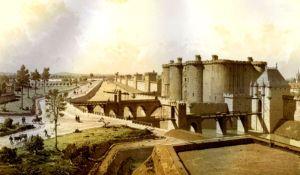 Bastille and the Porte Saint-Antoine (right) in 1420