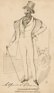 Sketch by James Fraser of d'Orsay, Courtesy of Wikipedia