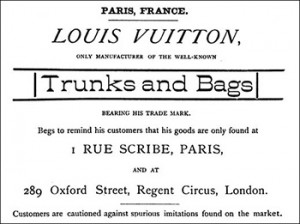 Louis Vuitton Advertisement From 1886, Author's Collection