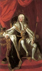 four king Georges - George II, Courtesy of Wikipedia