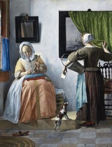 """Gabriel Metsu's """"Woman reading a Letter,"""" c.1664-c.1666,  NGI.4537, Courtesy of National Gallery of Ireland"""