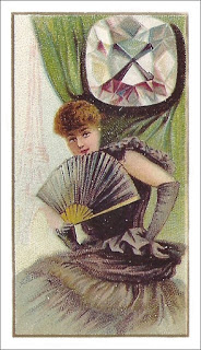 """""""Famous Diamonds of the World,"""" a Cigarette Card of the Late 1800s that Shows the Regent Diamond, Author's Collection"""