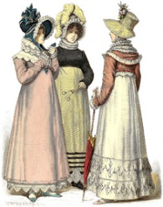 Bourbon Restoration Fashions from 1814, Author's Collection