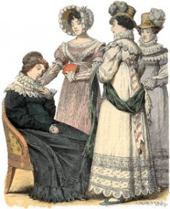 Bourbon Restoration Fashions From 1819, Author's Collection
