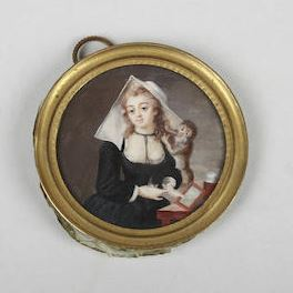 Monkeys as Pets - Jeanne de Valois-Saint-Rémy, Known Better as Comtesse de la Motte, with a Monkey