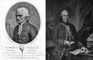 Bernard René Jourdan, marquis de Launay (left) and Jacques de Flesselles (right), Public Domain