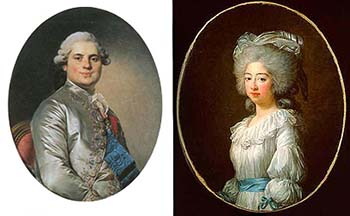 Count of Provence and His Wife, Marie Joséphine, Public Domain