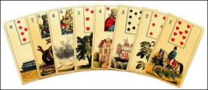 Example of Mademoiselle Lenormand's 36-Card Deck From 1890, Author's Collection