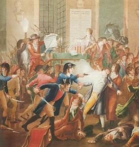 Shooting of Robespierre by Charles-André Merda, Courtesy of Wikipedia