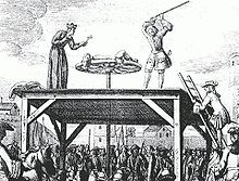 Tortue of Famous Parisian Bandit, Cartouche, At His Execution in 1721
